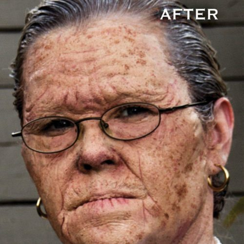 Special FX makeup old age prosthetics