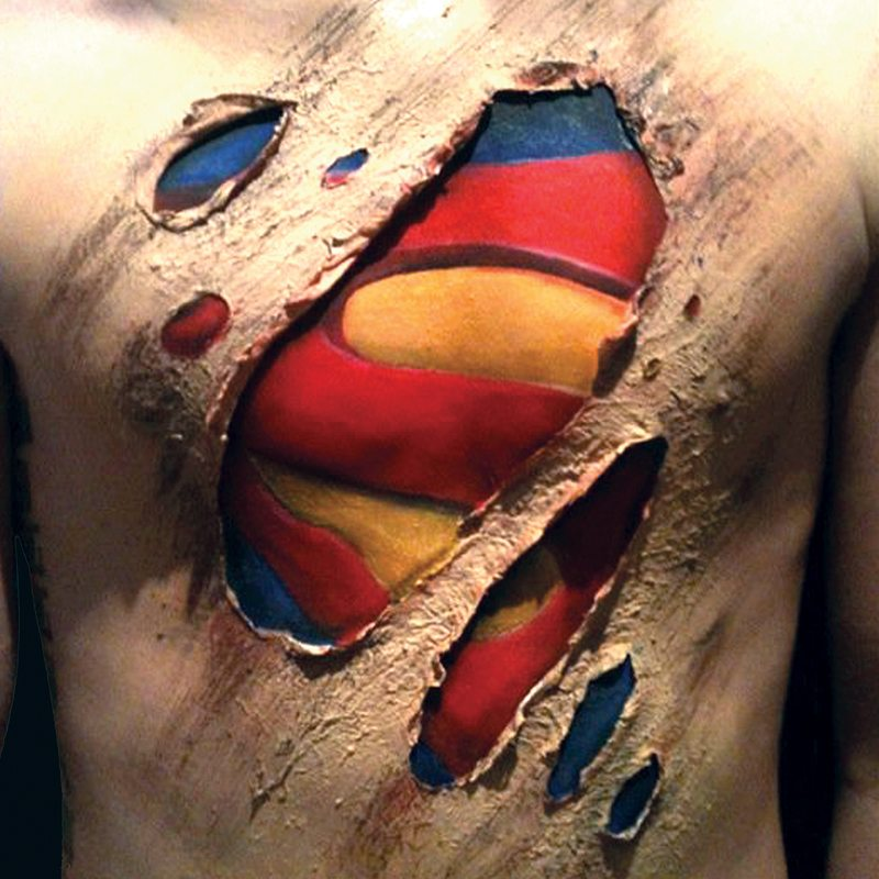 Special FX makeup bodypainting superman
