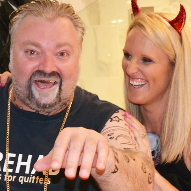 Bodypainting Kyle Sandilands Halloween Party 2015