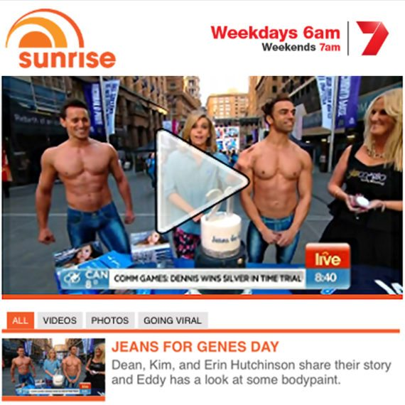 Bodypainting Channel 7 Sunrise
