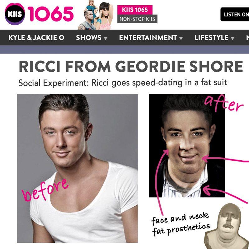 Special fx makeup Geordie shore Ricci Guarnaccio KIIS