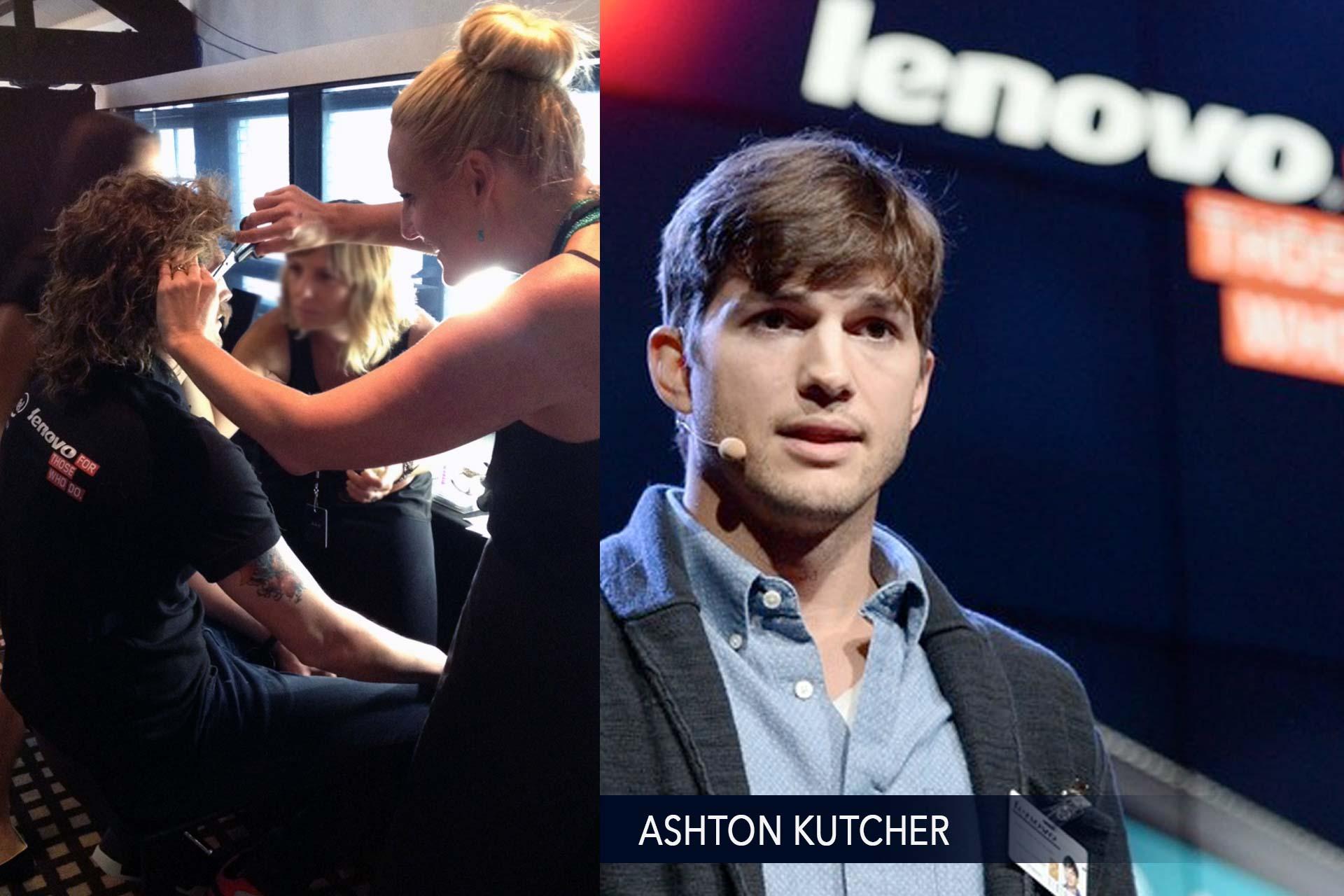 Ashton Kutcher Stunt Lenovo