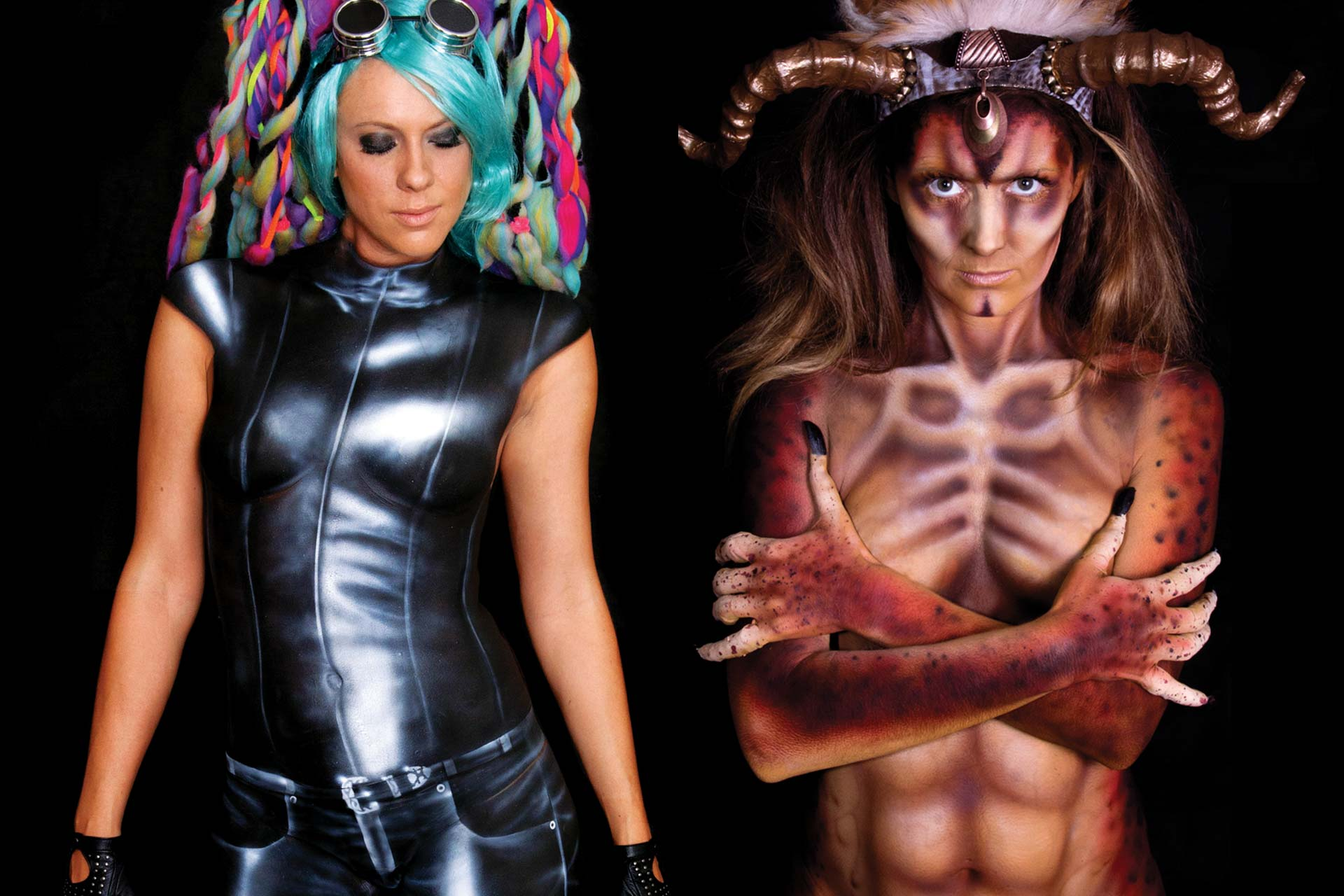 Leather Tribal Bodypainting