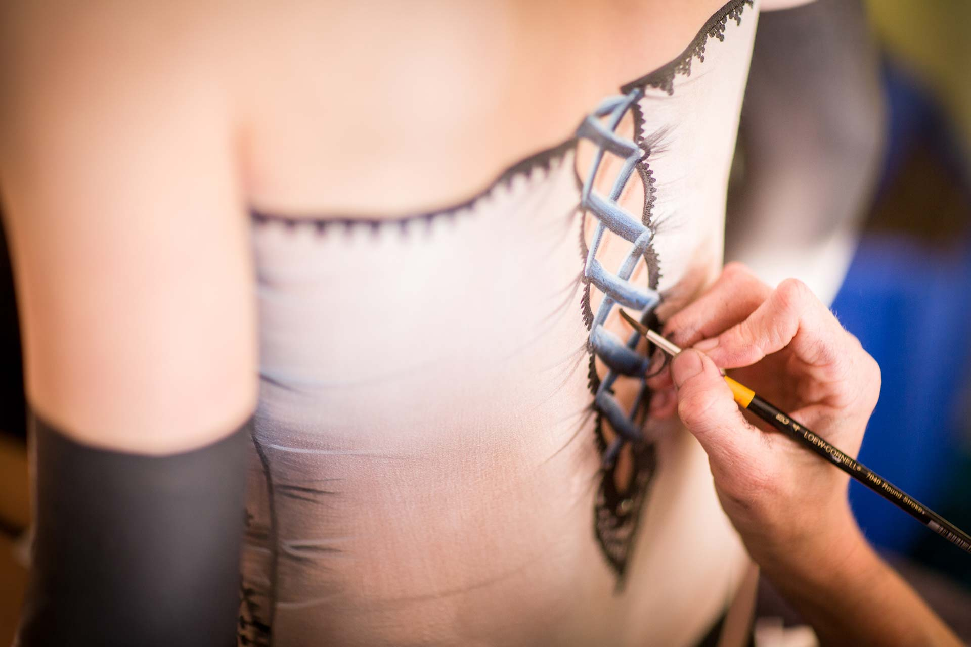 Corset and Lingerie Bodypainting